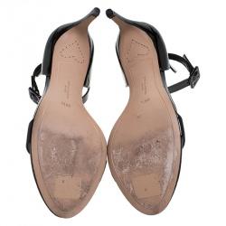 Sophia Webster Black Patent Leather Nicole Sandals Size 39.5