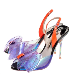 Sophia Webster Multicolor PVC And Patent Leah Bow Sandals Size 38.5