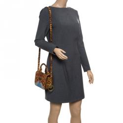 Sophie Hulme Brown Leopard Print Leather Small Finsbury Shoulder Bag