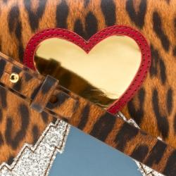 Sophie Hulme Brown/Black Leopard Print Leather Small Finsbury Crossbody Bag