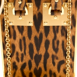 Sophie Hulme Brown Leopard Print Leather Compton Crossbody Bag