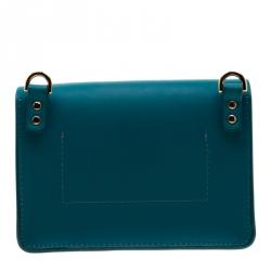 Sophie Hulme Green Leather Nano Milner Crossbody Bag