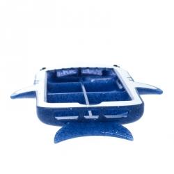 Stella McCartney Blue Glitter Rubber Shark iPhone 7 Case