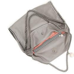 Stella McCartney Grey Leather Chain Falabella Tote Bag