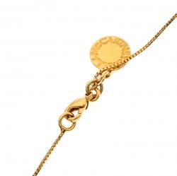 Stella McCartney Matchstick Enamel Gold Tone Pendant Necklace