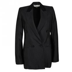 Stella McCartney Black Diamond Jacquard Blazer S