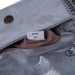 Stella McCartney Silver Faux Leather Falabella Clutch