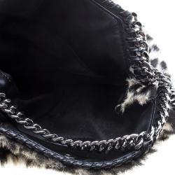 Stella McCartney Beige Faux Fur Mini Falabella Tote