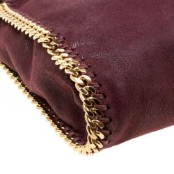 Stella McCartney Burgundy Faux Leather Small Falabella Tote