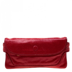 5e10b32cc9b5e Stella McCartney Red Faux Leather Appaloosa Clutch