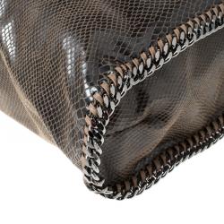 Stella McCartney Metallic Python Faux Leather Large Falabella Tote