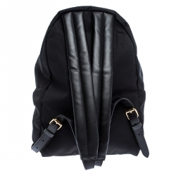 Stella McCartney Black Nylon and Leather Falabella Backpack