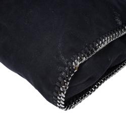 Stella McCartney Metallic Navy Blue Faux Leather Large Falabella Tote