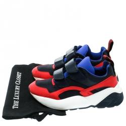 Stella McCartney Multicolor Fabric/Leather Eclypse Velcro Strap Sneakers Size 39