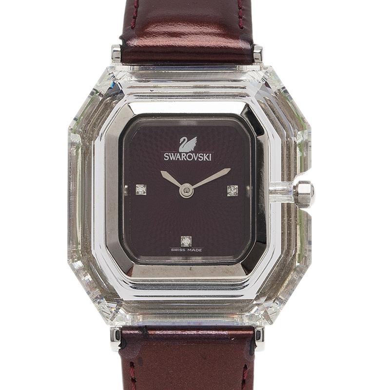 Swarovski Purple Stainless Steel Rock N Light Women's Wristwatch 40MM