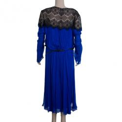 Tadashi Shoji Chantilly Lace Chiffon Flare Cocktail Dress XL