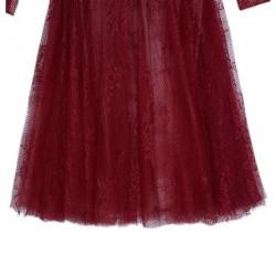 Tadashi Shoji Red Lace Embellished Dress M