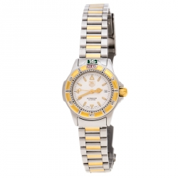 Tag Heuer Silver Gold-Plated Stainless Steel Professional WF1420-O Women's Wristwatch 26 MM
