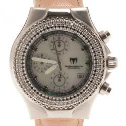 TechnoMarine White Stainless Steel Techno Millenium Women's Wristwatch 40MM
