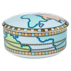 Tiffany & Co. Porcelain World Map Trinket Jewelry Box