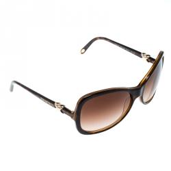 4e63d28fa57 Tiffany   Co. Brown Havana Brown Gradient TF4024 Oversize Sunglasses
