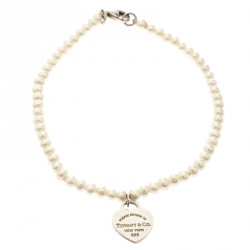 11ccec8847f59 Tiffany   Co. Return To Tiffany Pearl Silver Heart Tag Bracelet