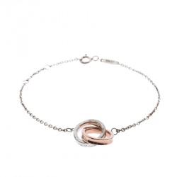 Tiffany & Co. Tiffany 1837 Silver Rubedo Interlocking Circles Chain Bracelet