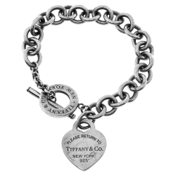 Tiffany & Co. Return to Tiffany Heart Tag Silver Toggle Charm Bracelet