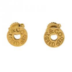 أقراط تيفاني & كو. 1837 ذهب أصفر عيار 18 مستديرة