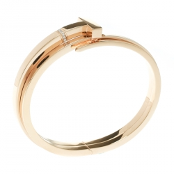 c9705c0664c Tiffany   Co. Tiffany T Square Wrap Diamond   18k Rose Gold Cuff Bracelet