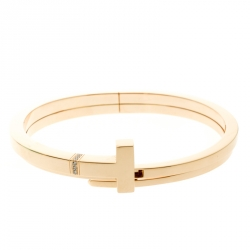 3446579b5 Tiffany & Co. Tiffany T Square Wrap Diamond & 18k Rose Gold Cuff Bracelet