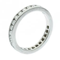 2f0711aaa Tiffany & Co. Diamond Channel Set Platinum Eternity Wedding Band Ring Size  54