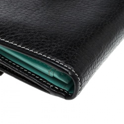 Tiffany & Co. Black Leather Continental Wallet