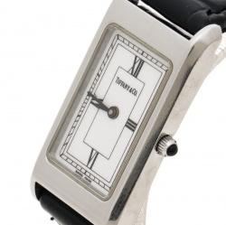 36feb08400f Tiffany   Co. White Stainless Steel Classic Women s Wristwatch ...