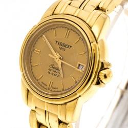 Tissot Gold Plated Stainless Steel Seastar A630/730 Women's Wristwatch 24 mm