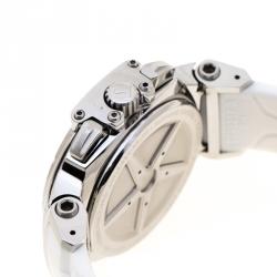 Tissot White Stainless Steel T-Race T048217A Women's Wristwatch 33 mm