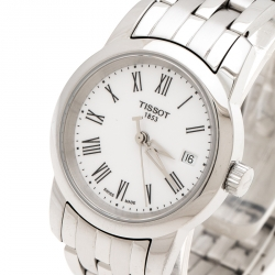 Tissot White Stainless Steel Jungfraubahn 1912-2012 T-Classic Dream T033210A Women's Wristwatch 28 mm