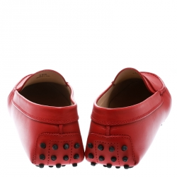Tod's Red Leather Penny Loafers Size 39.5