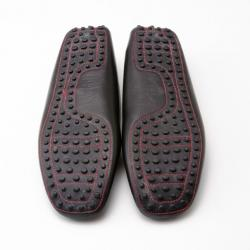 Tod's For Ferrari Black Leather Loafers Size 38