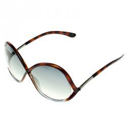Tom Ford Brown Tortoise TF372 Ivanna Sunglasses