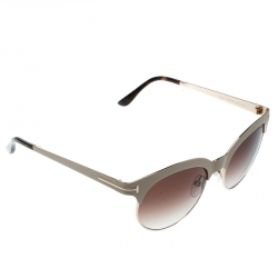 a5129a23b Tom Ford Beige/Brown Gradient TF438 Angela Round Sunglasses