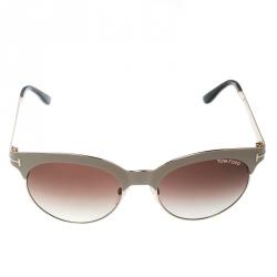 fc4c27f31 نظارة شمسية توم فورد أنجيلا TF438 بيج/بني متدرجة مستديرة