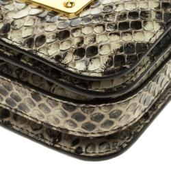 Tom Ford Black/Beige Python Small Natalia Shoulder Bag