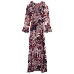 Tory Burch Silk Printed Maxi Dress L