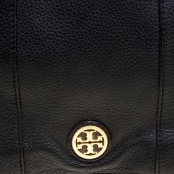 Tory Burch Black Leather Flap Shoulder Bag