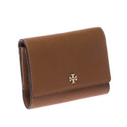 Tory Burch Brown Leather Medium Robinson Wallet