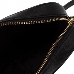 Tory Burch Black Leather Robinson Camera Crossbody Bag