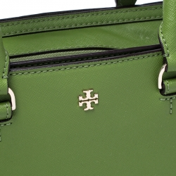 Tory Burch Green Leather Tote