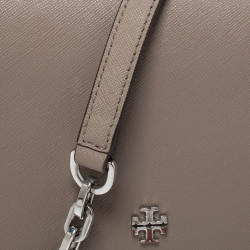Tory Burch Beige Leather Robinson Crossbody Bag
