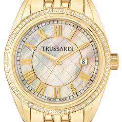 Trussardi MOP Gold Plated Stainless Steel Galleria Women's Wristwatch 38.5MM